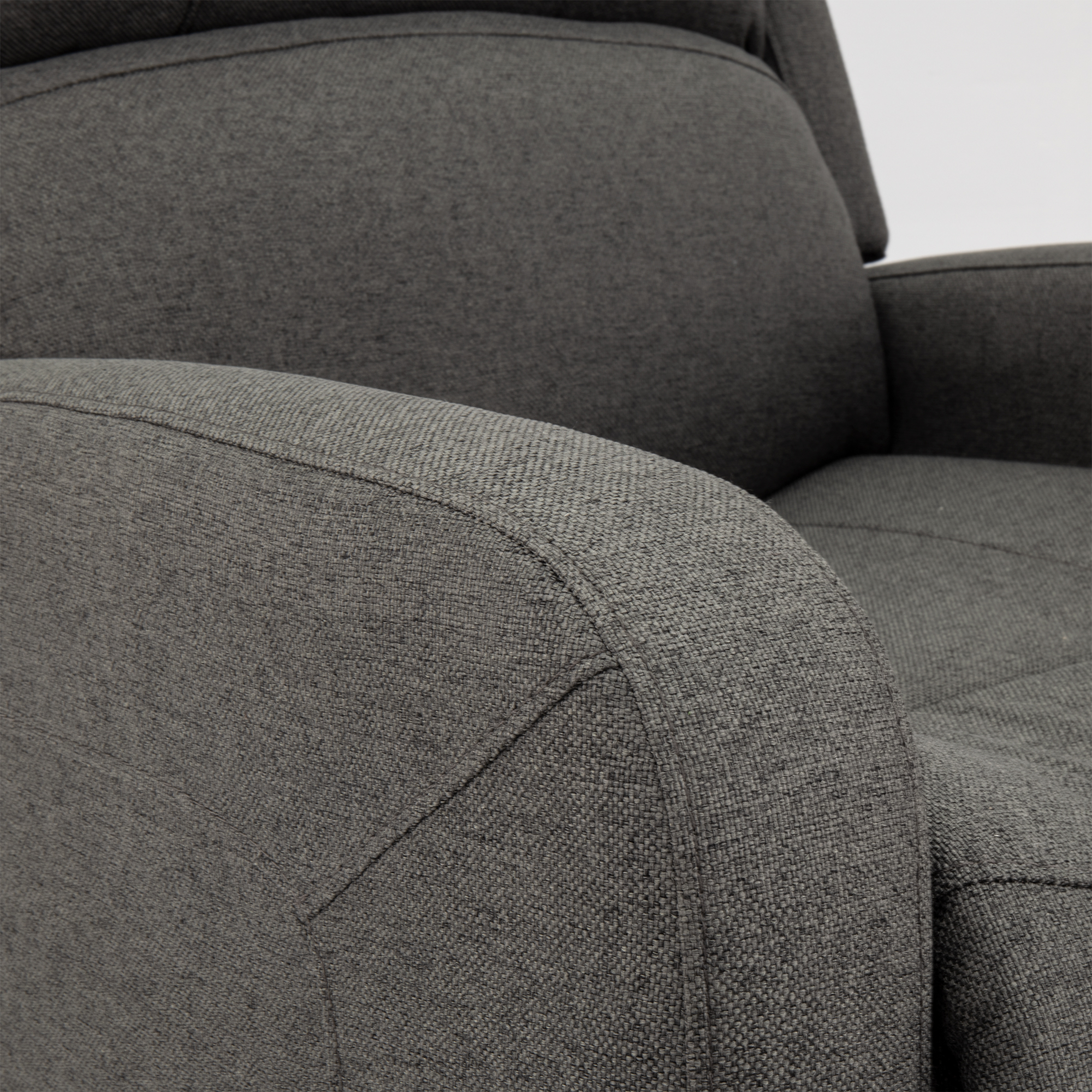 Push Back RV Recliner in Fossil Cloth
