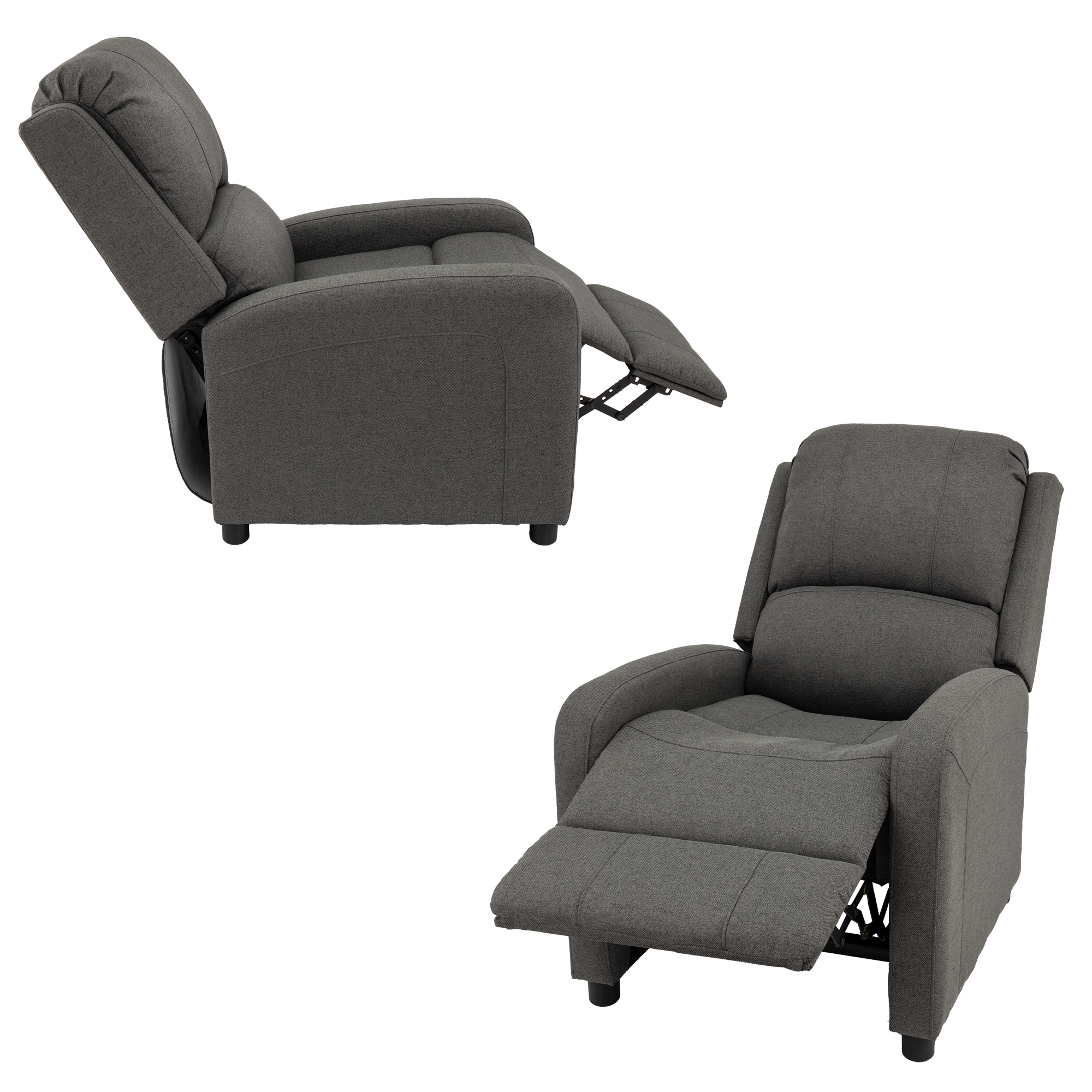 Push Back RV Recliner in Fossil Cloth Show