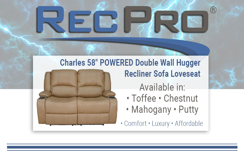 """58"""" Powered Reclining Couch"""