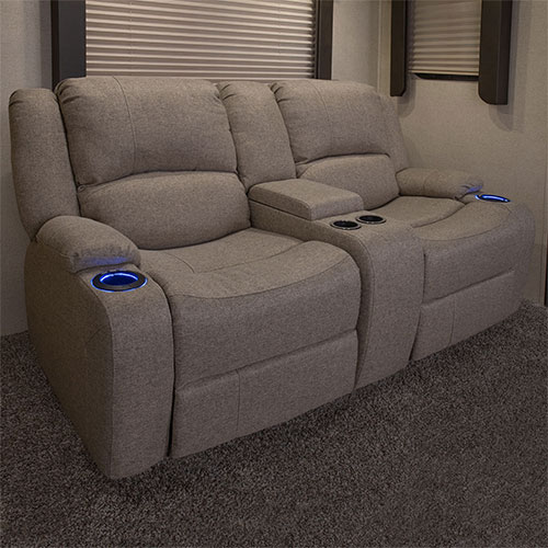 "Powered 67"" Recliner Sofa"