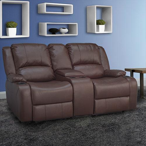 Mahogany Reclining Sofa