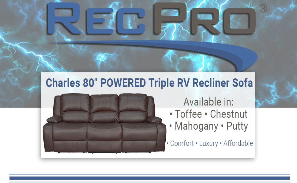 "Powered 80"" Recliner Sofa"