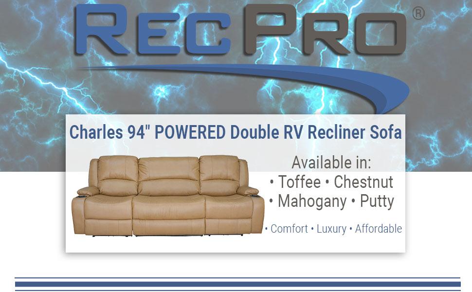 "Powered 94"" Recliner Sofa"