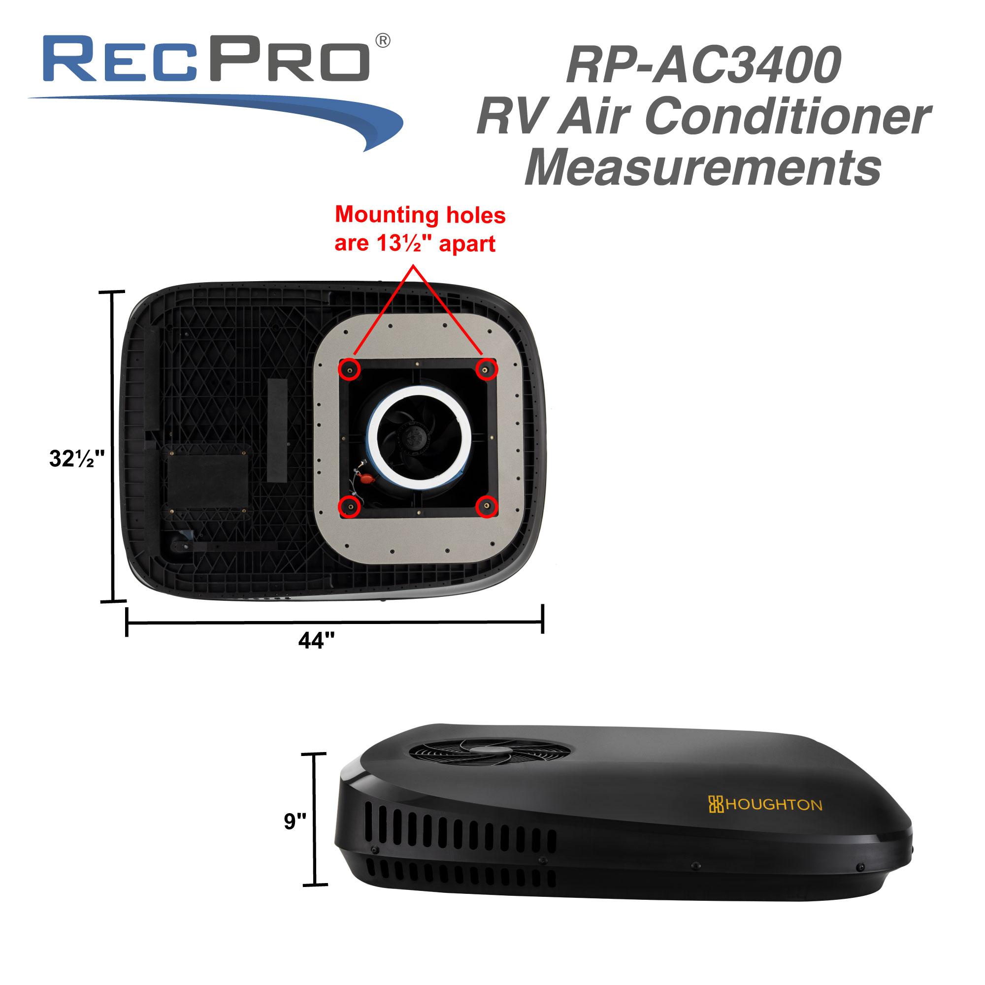 RV Air Conditioner 13.5K Quiet AC with Remote Control
