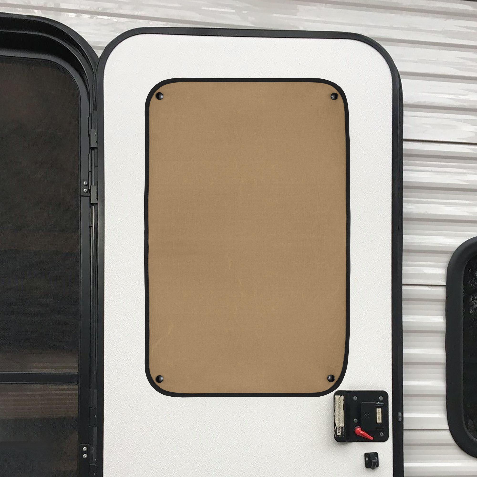 RV Entry Door Window Shade with Snaps