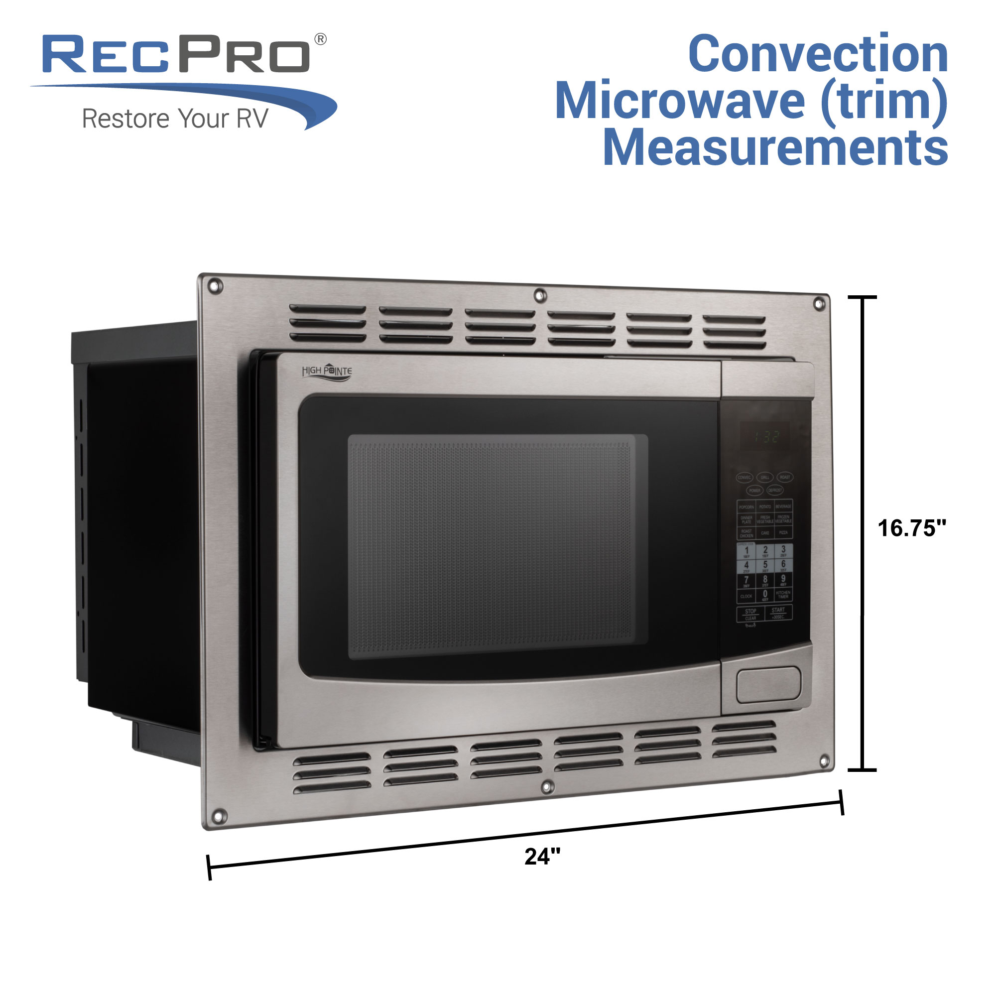 rv convection microwave in stainless steel