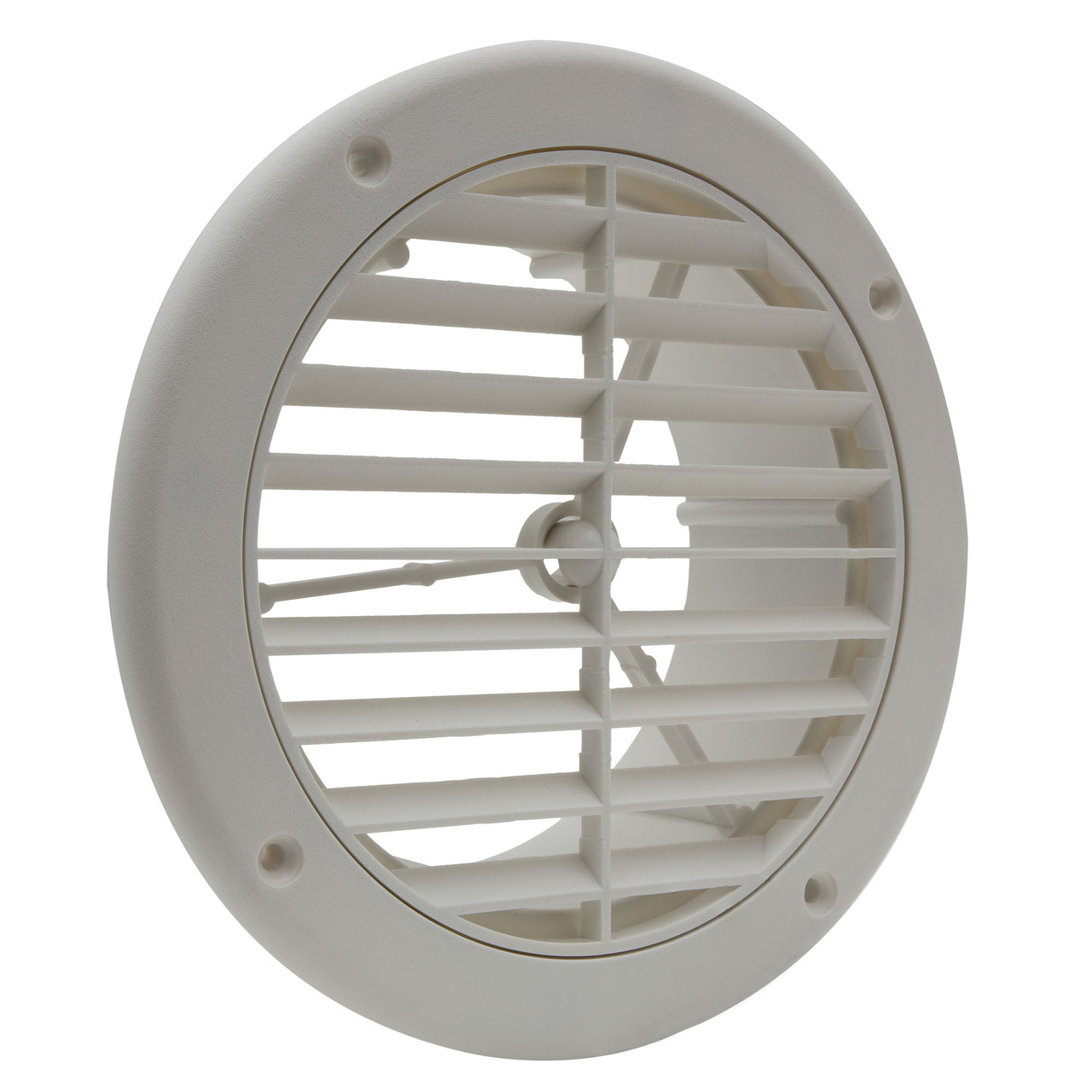 """RV AC Vent 5"""" with Optional Charcoal Filter White"""