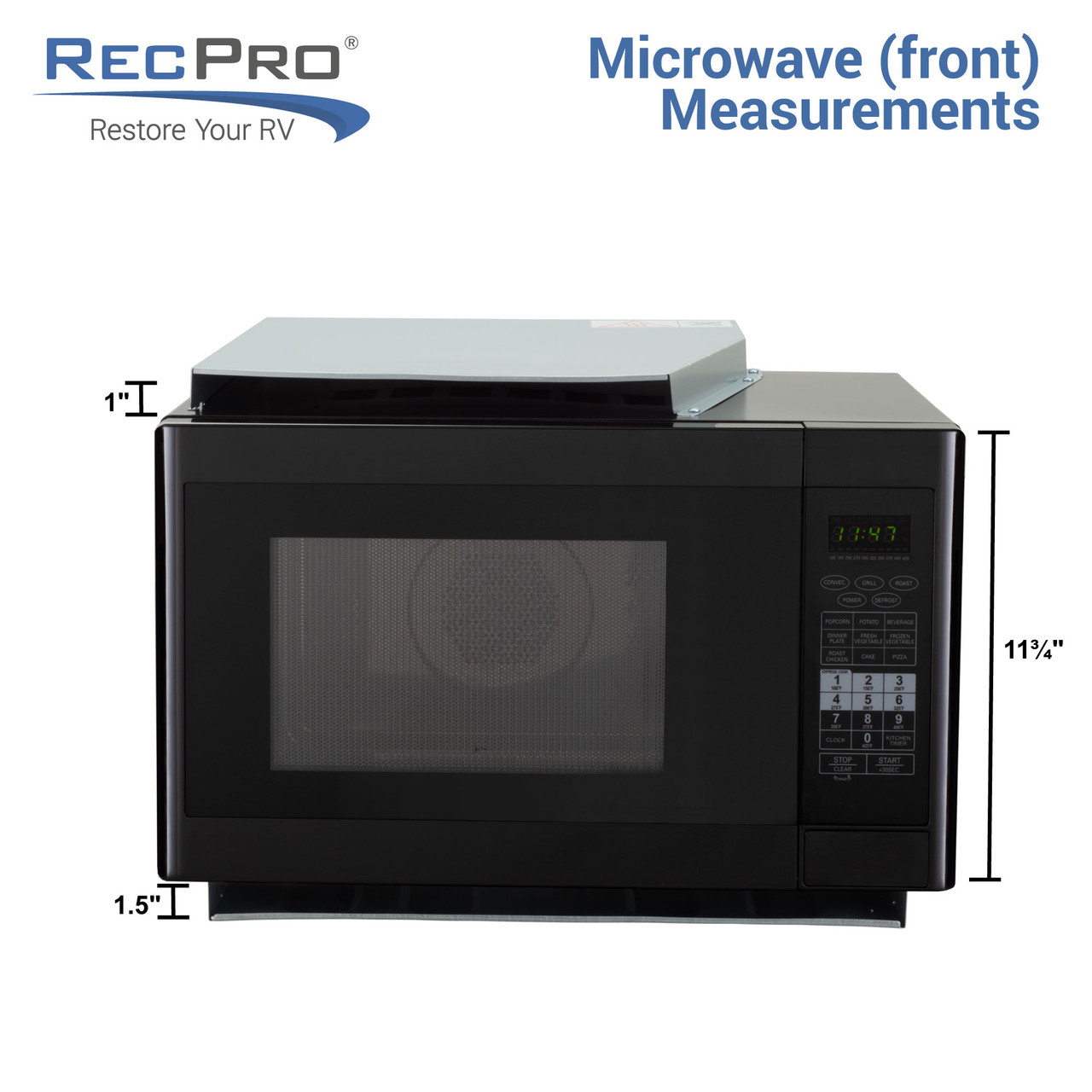 RV Convection Microwave Oven Black