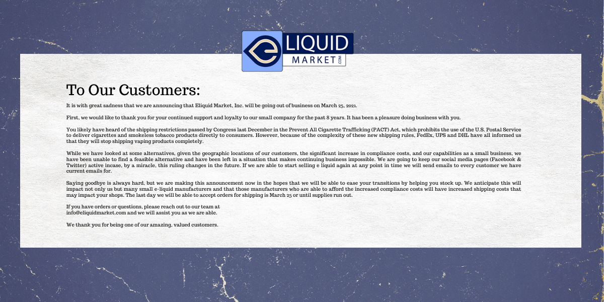 news to our customers