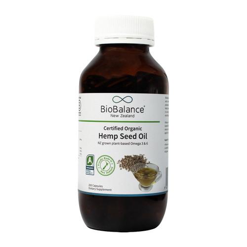 Certified Organic Hemp Seed Oil Capsules