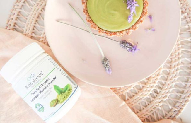 Be Good Organics' Matcha Lavender Tarts