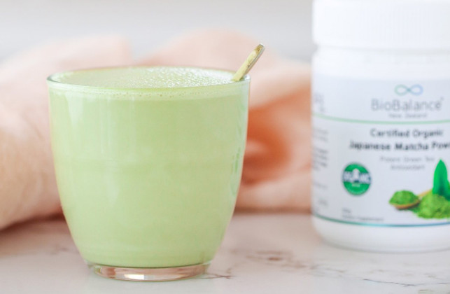 Be Good Organics' Instant Matcha Mint Latte