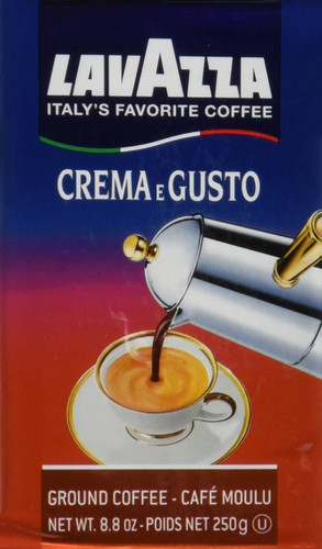 LavAzza Crema E Gusto Pre-Ground Espresso Brick 20pk