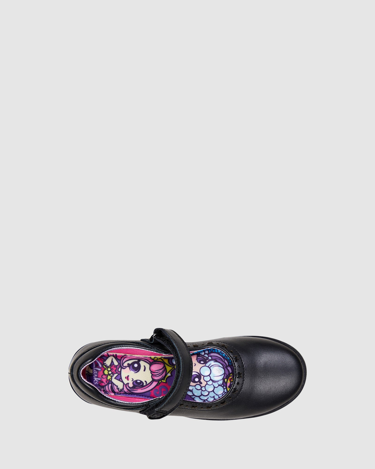 Shoes & Sox Girls Bow School Shoes Black
