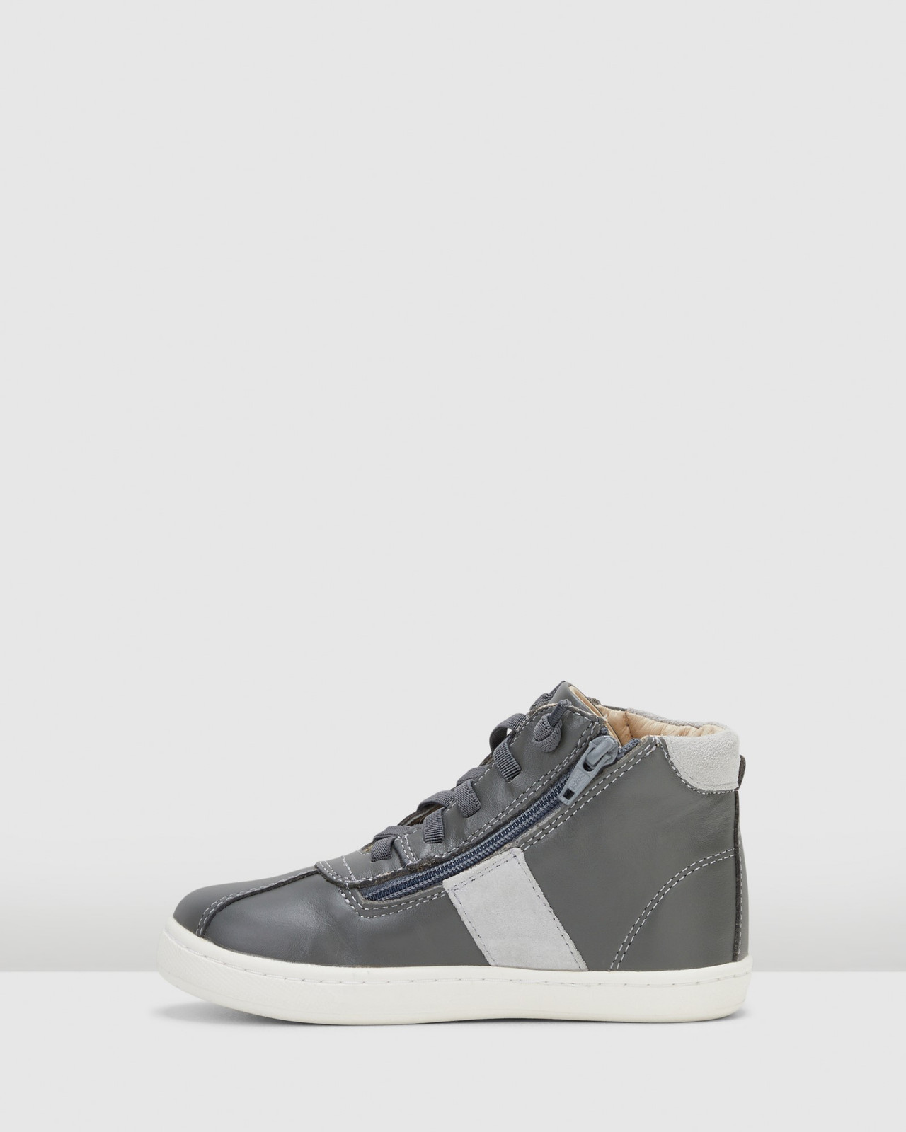 Shoes & Sox Boys Hypen High Tops Grey/Grey Suede