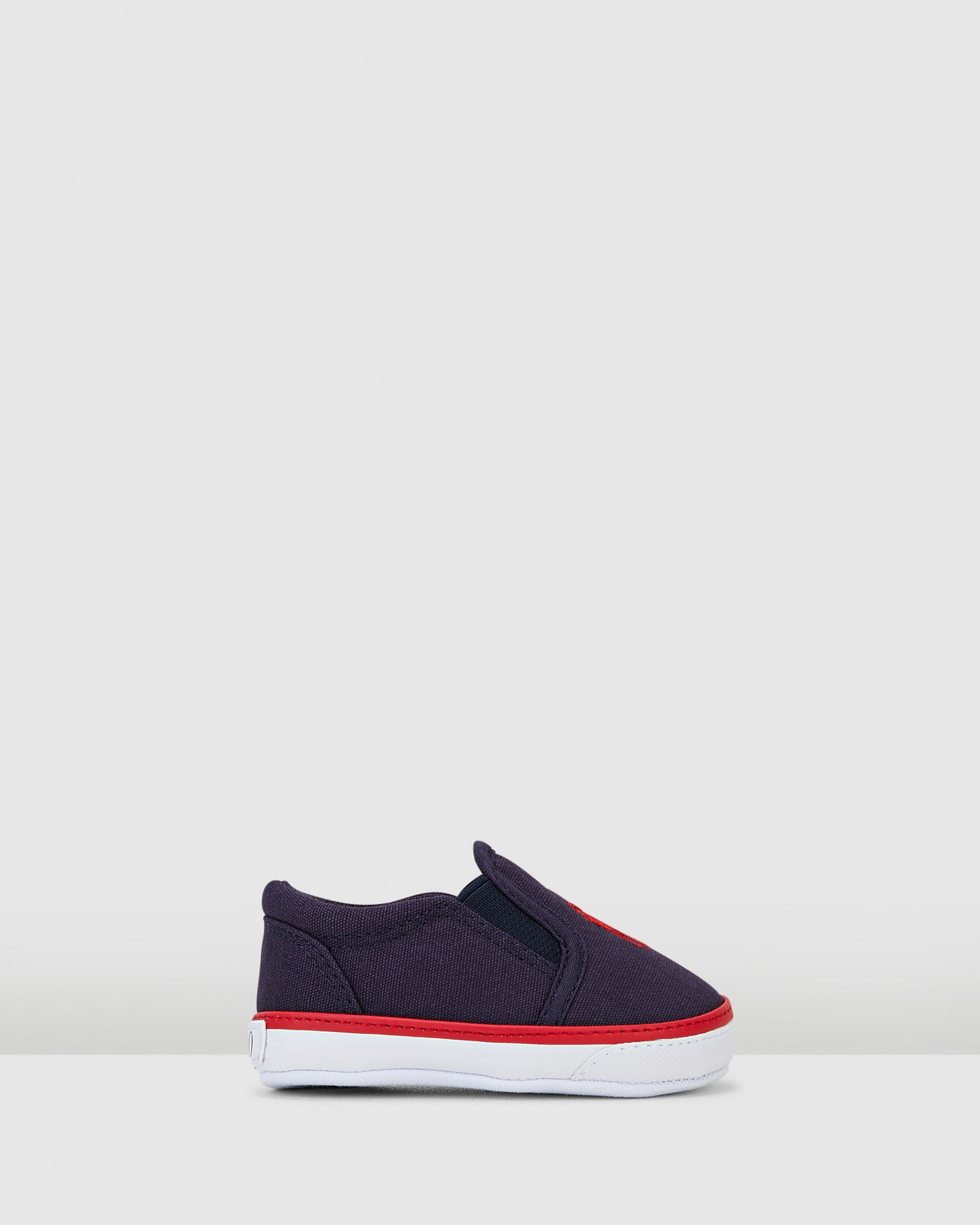 Shoes & Sox Boys Bal Harbour III Navy/Red