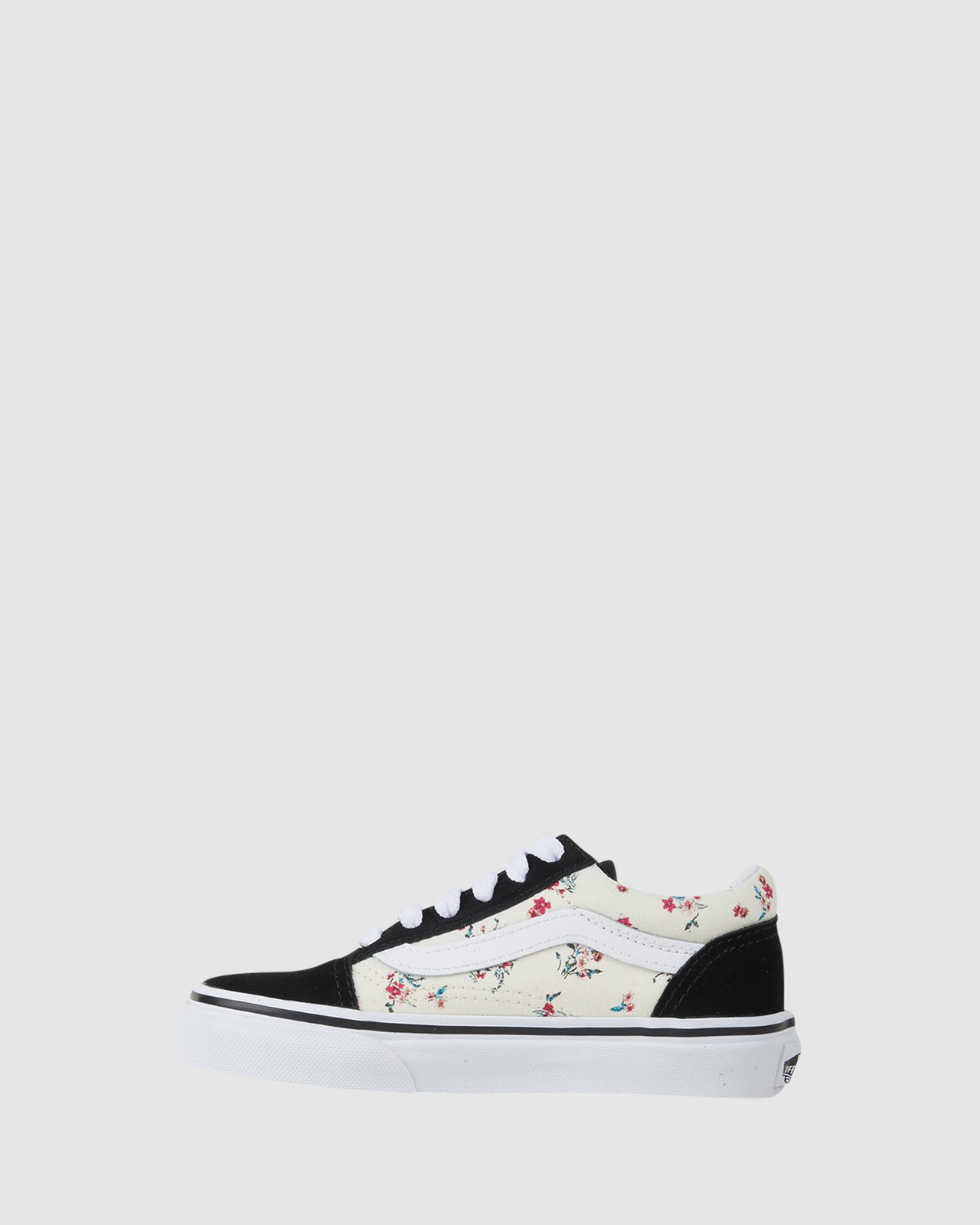 Shoes & Sox Girls Old Skool Floral Youth Black/Floral