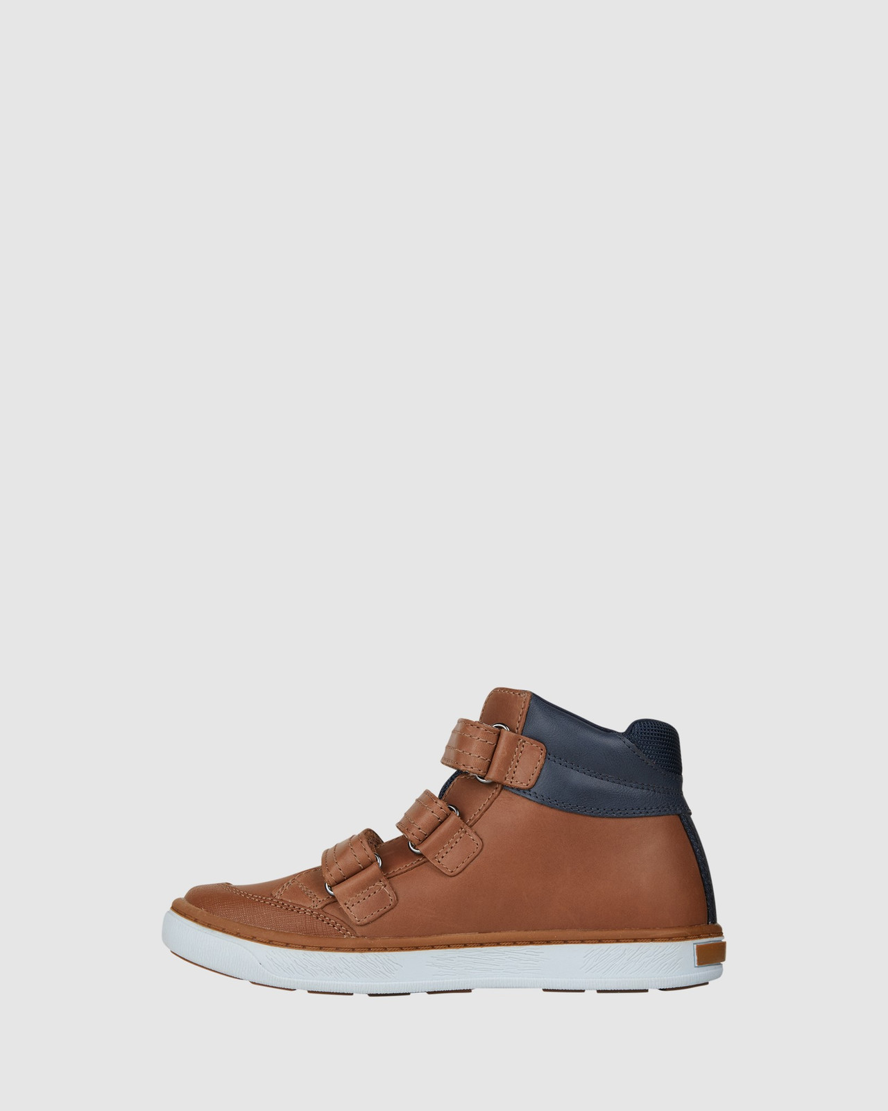 Shoes & Sox Boys Geoff Straps Boots Tan/Navy