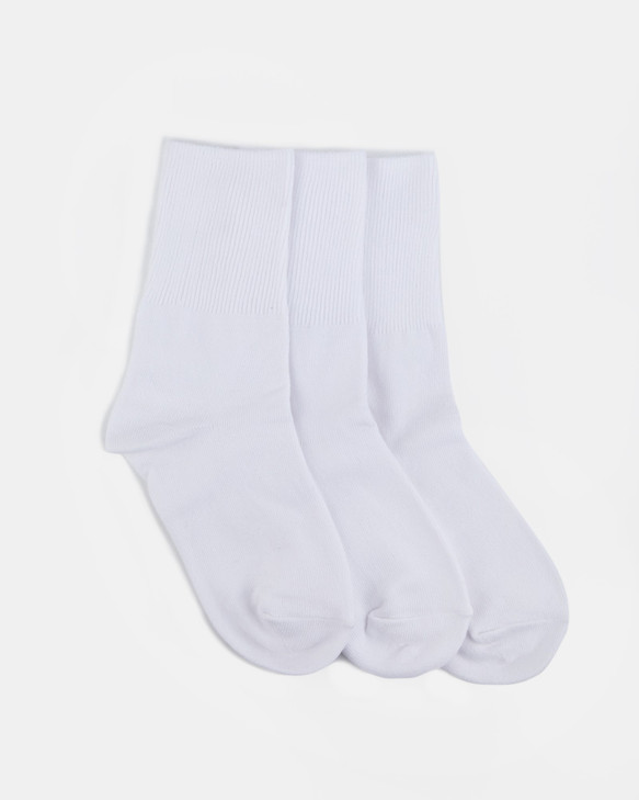 Shoes and Sox Delight 3 Pr  White