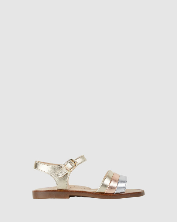 Shoes and Sox Metallic Stripe S G 480780 Yth Champagne