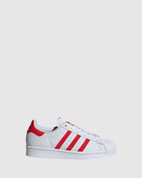 Shoes and Sox Superstar Heart Gs White/Red