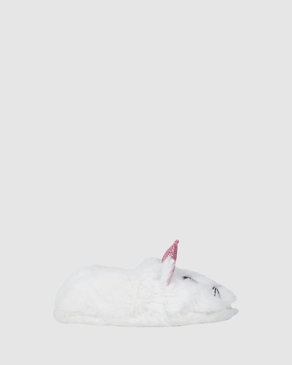 Shoes and Sox Kitty Cat Slipper White Multi