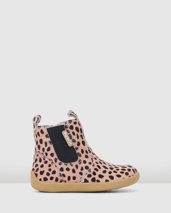 Shoes and Sox Mani Leopard Boot G Pink