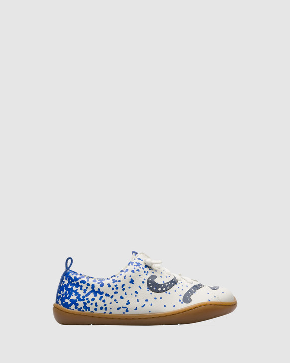 Shoes and Sox Twins Sneaker Octopus Yth White/Navy