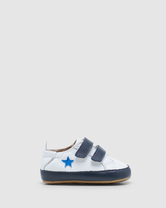 Shoes and Sox Star Markert B White/Navy