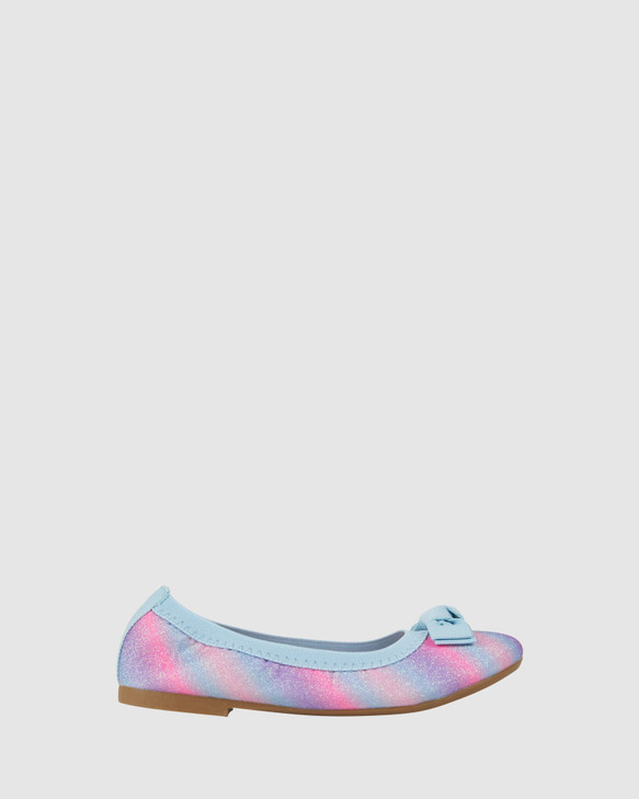 Shoes and Sox Keely Gradient Ballet Pink/Turquoise