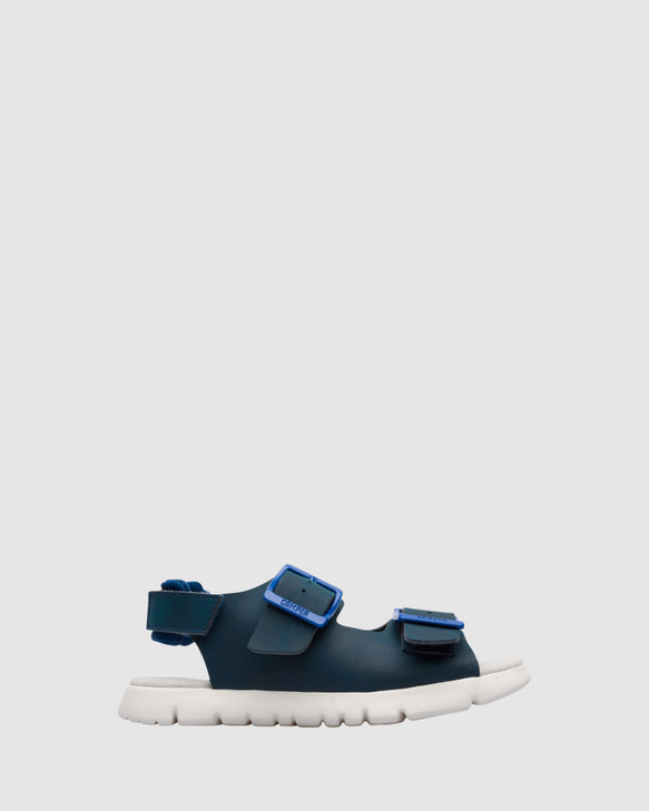 Shoes and Sox Oruga Buckle Sandal B Yth Navy