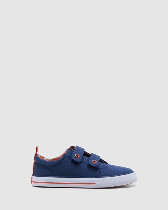 Shoes and Sox Luke Navy/Tangerine