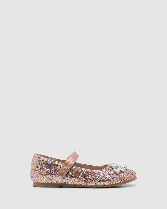 Shoes and Sox Adele Rose Gold
