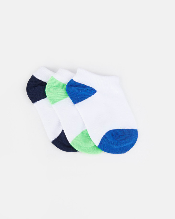 Shoes and Sox Fashion Anklet 3 Pk  Blue Multi