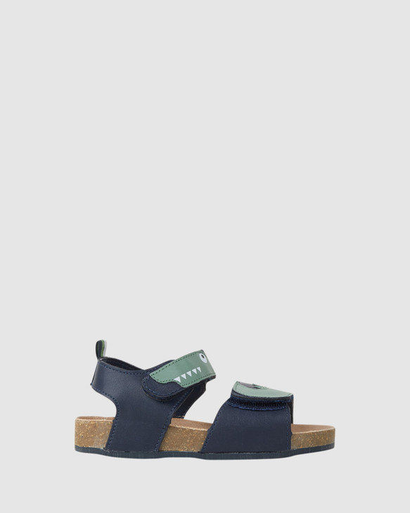 Shoes and Sox Chomp Navy/Green