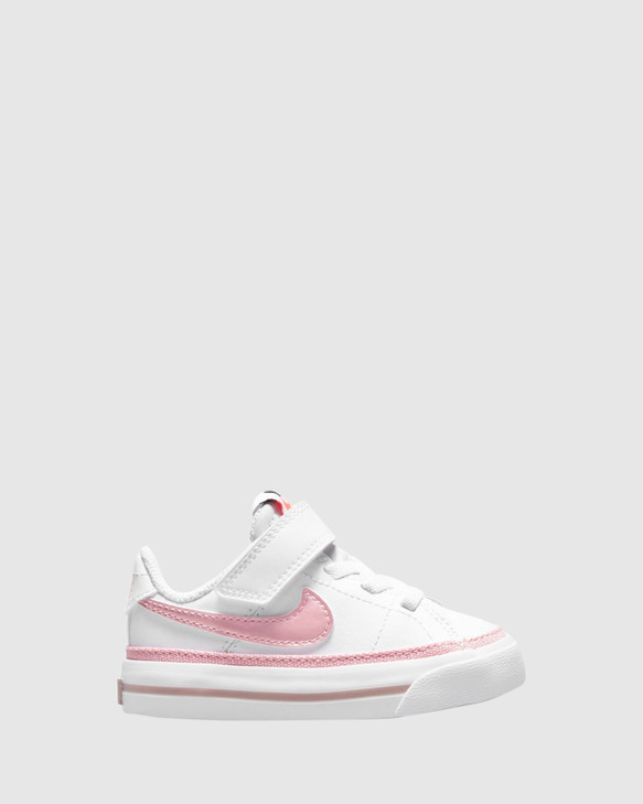 Shoes and Sox Court Legacy Inf G White/Pink Glaze