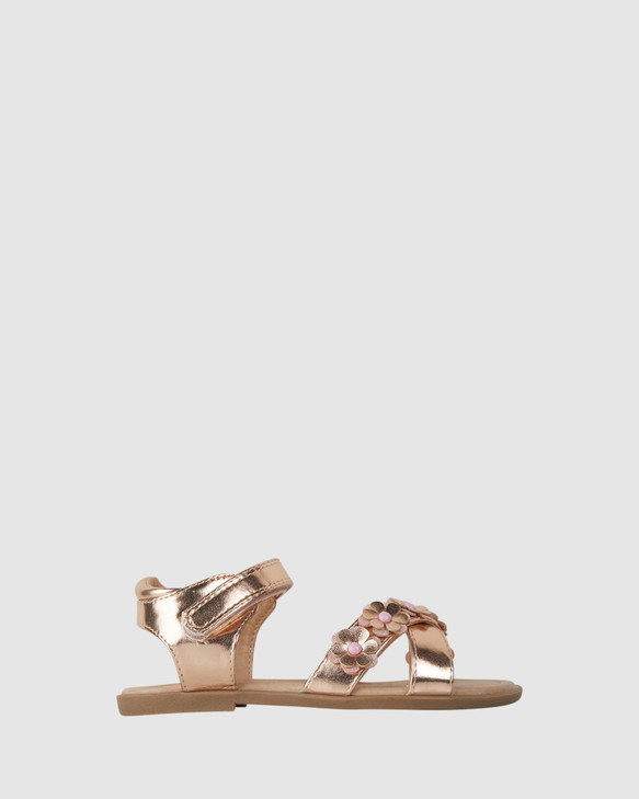 Shoes and Sox Aurora Sandal Rose Gold