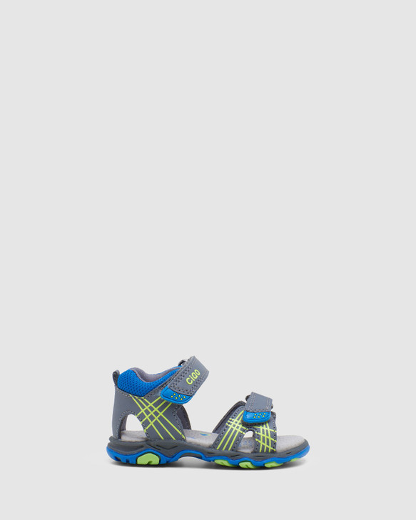 Shoes and Sox Hype Grey/Blue/Lime