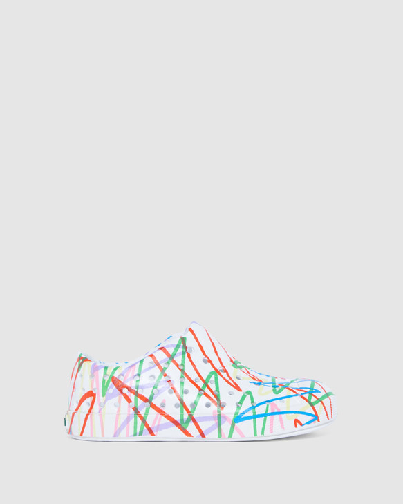 Shoes and Sox Jefferson Scribble Inf White/Multi