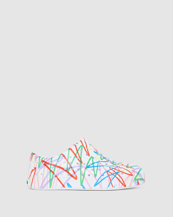 Shoes and Sox Jefferson Scribble Yth White/Multi