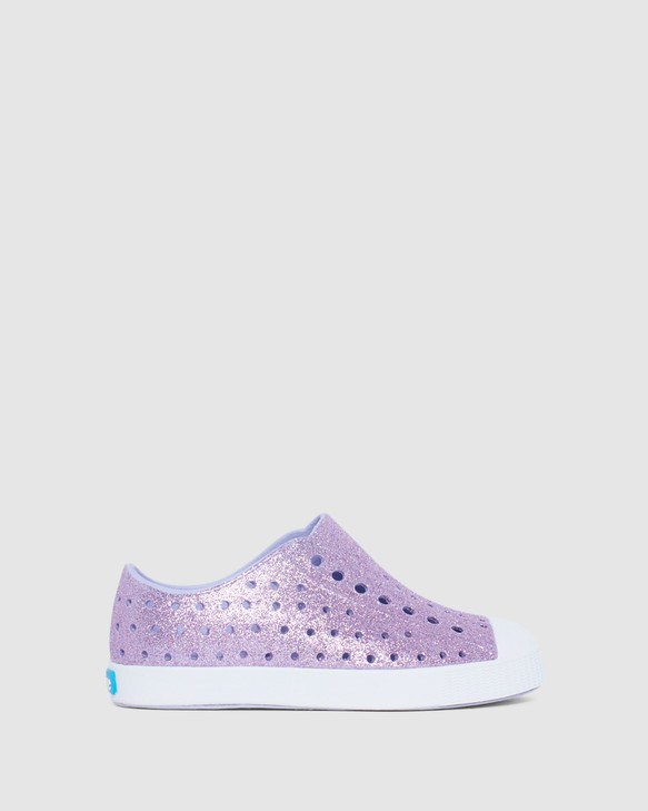 Shoes and Sox Jefferson Bling G Yth Purple Glitter