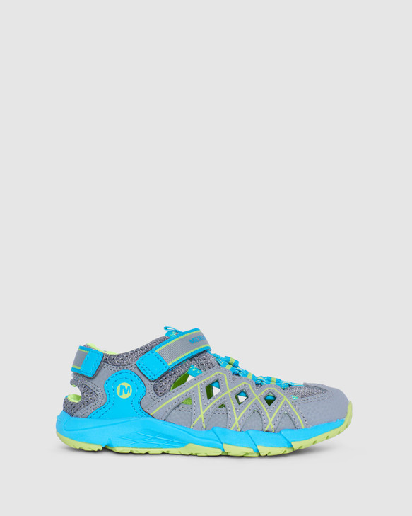 Shoes and Sox Hydro Quench Hiker Sandal G Grey/Turquoise