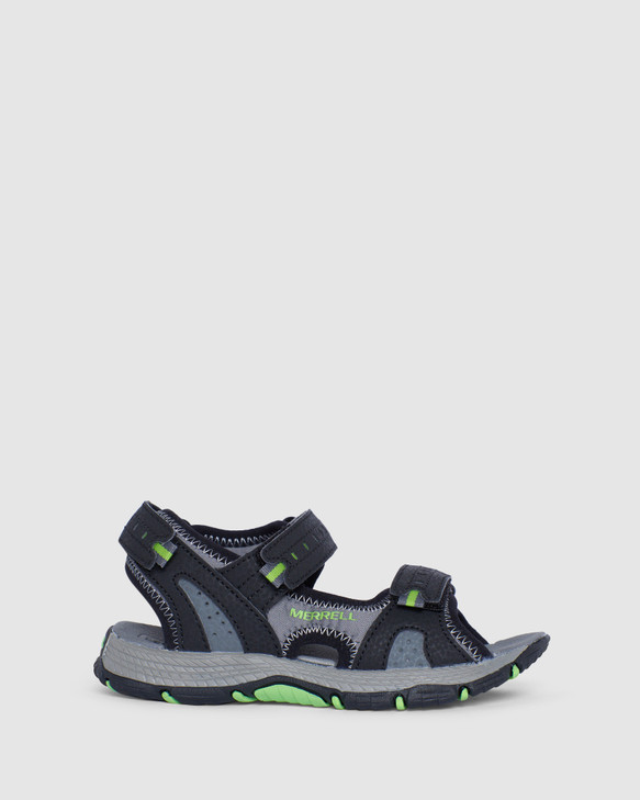 Shoes and Sox Panther Sandal 2.0 B Black/Lime