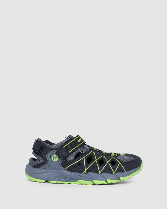 Shoes and Sox Hydro Quench Hiker Sandal B Grey/Black/Lime