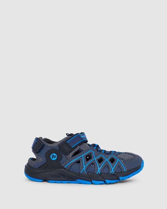 Shoes and Sox Hydro Quench Hiker Sandal B Navy/Black