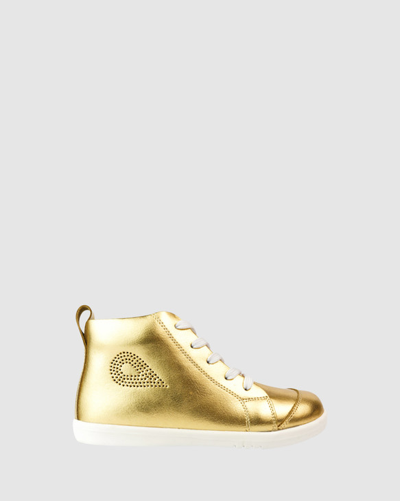 Shoes and Sox Kid+ Alley-Oop Gold Metallic