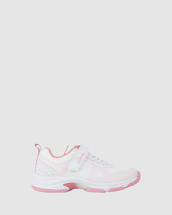 Shoes and Sox Active White/Rose