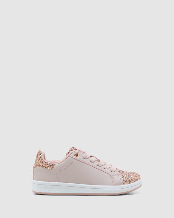 Shoes and Sox Diana Blush/Rose Gold Glitter