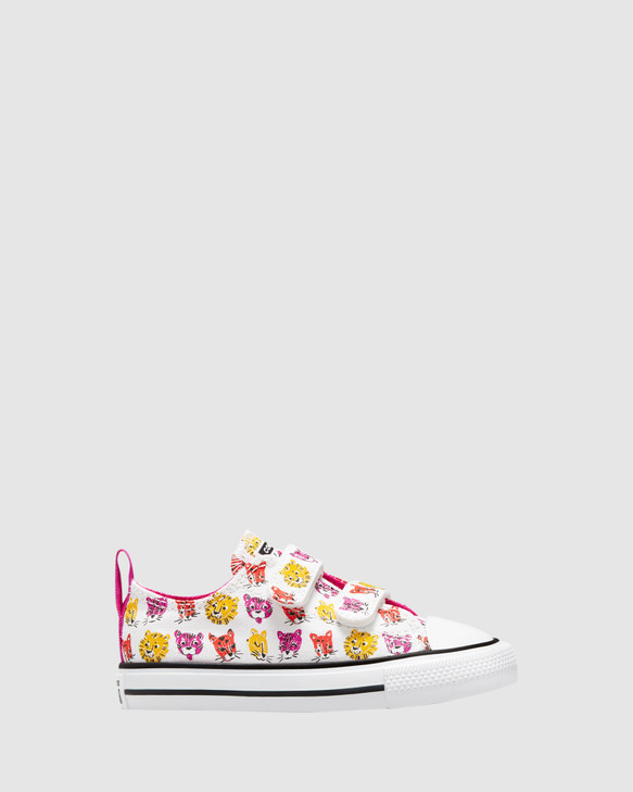 Shoes and Sox Ct As 2V Jungle Cats Inf G White/Pink