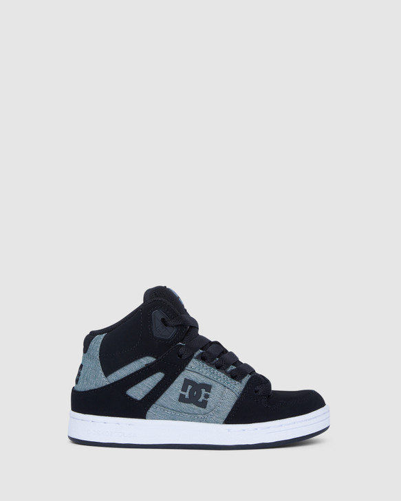 Shoes and Sox Pure High-Top Yth Black/Charcoal